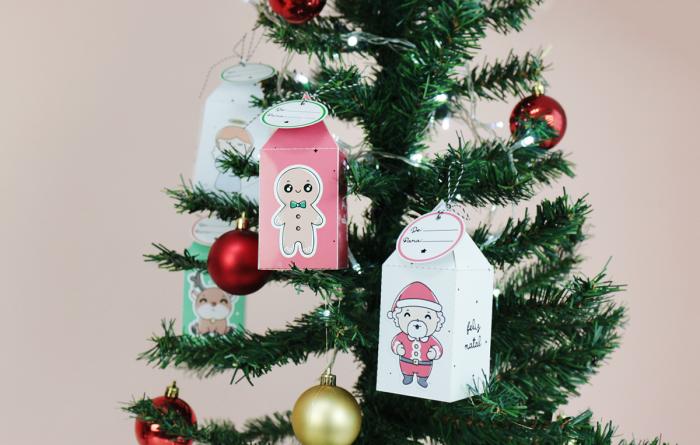 Enfeite para Árvore de Natal (Caixinhas de presente)