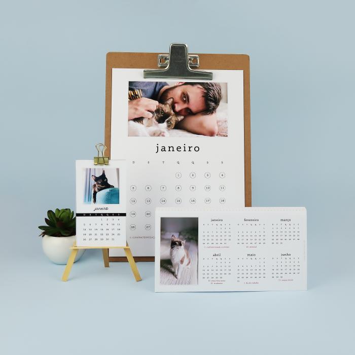 DIY: Calendários com foto para 2020