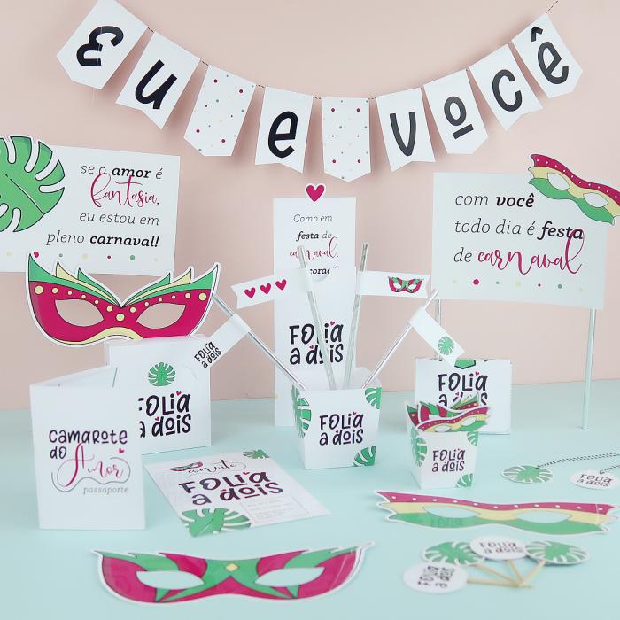 Kit Folia a Dois – Carnaval Criativo para Casal