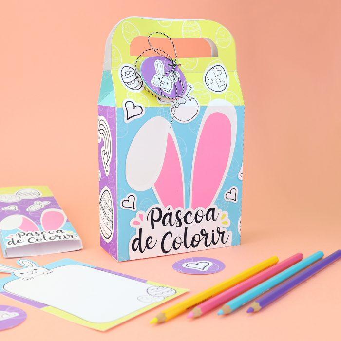 Kit Páscoa de Colorir – presentinho de Páscoa para crianças